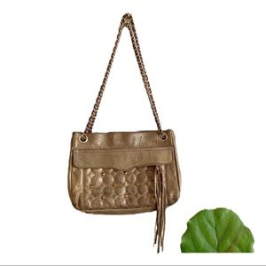 Rebecca Minkoff Swing Gold Studded Shoulder Bag